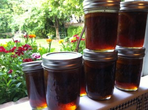 Fig Preserves, sitting in my kitchen window.